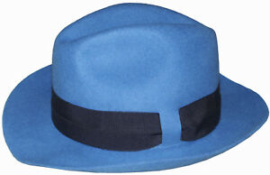 m Blue Trilby Paul In Italy Rare 100 Size Cobalt Made Hat Wool Smith wxqH86qgT