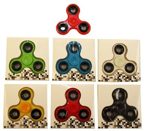 20 x Tri Finger Fidget Spinners 7.5 cm Individually Boxed. Range of colours