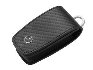 Genuine mercedes benz black carbon leather key wallet gen for Mercedes benz wallet
