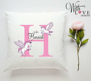 BABY-GIRL-PINK-UNICORN-HORSE-PERSONALISED-CUSTOM-PILLOW-CUSHION-PRESENT-GIFT