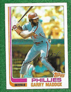 1982 Topps #20 Garry Maddox NM-MT Phillies AS SHOWN