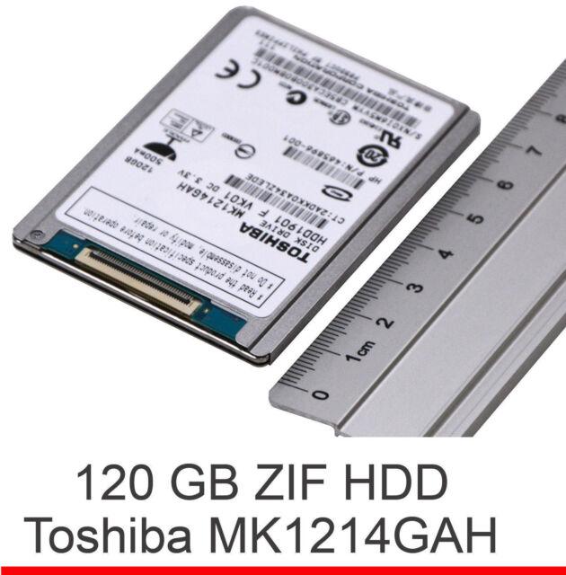 """120GB 120 GB 1,8"""" 4,5cm ZIF PATA TOSHIBA MK1214GAH FESTPLATTE HD KLEIN SCHNELL"""