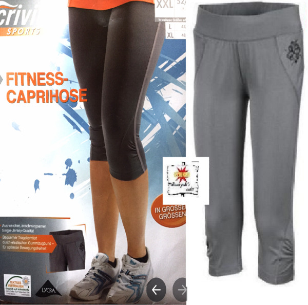 Crivit Damen Caprihose Fitness Hose Laufhose 3/4Hose Trainingshos Trainings Frei