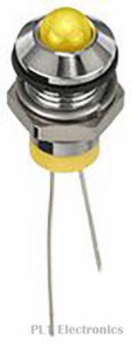 8 mm 20 ma APEM q8p6cxxy02e LED indicatore di montaggio del pannello Giallo 50 2 VDC