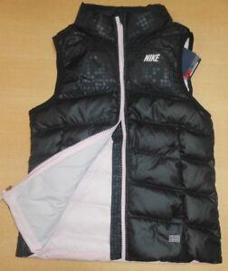 cc520b2cbb9c NIKE sz S Girl s Alliance 550 PUFFER Vest NEW  80 582884 010 Black ...