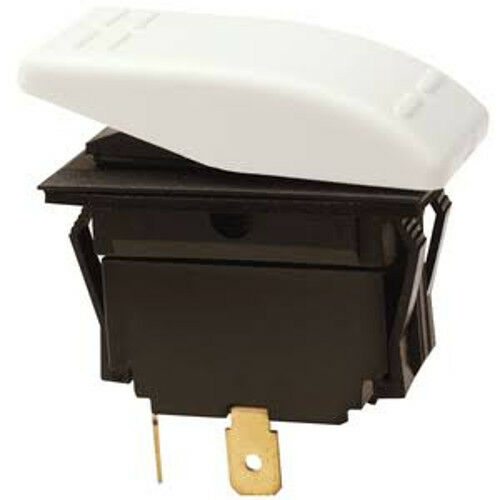Off Rocker Switch for Boats White SPST 2 Position Momentary On