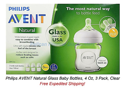 NATURAL 4oz 3pk GLASS