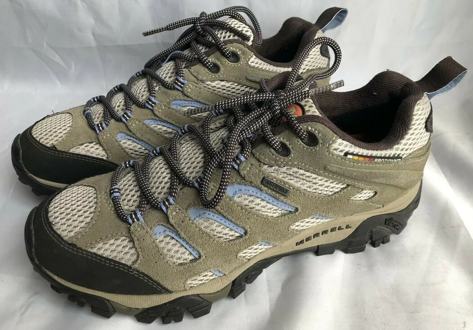 Merrell Womens Ortholite Air Cushion Vibram Hiking Walking shoes
