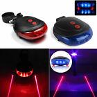 5 LED 2 Laser Rouge/Bleu Lumière Lampe Vélo Bicyclette VTT feu Arrière Eclairage
