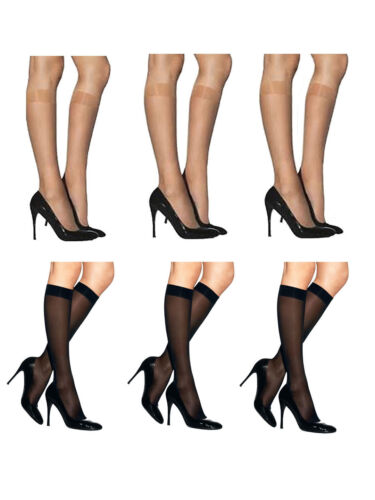 12 paires femmes genou pop pantalon chaussettes super doux 40 deniers sheer stocking afficher le titre d'origine