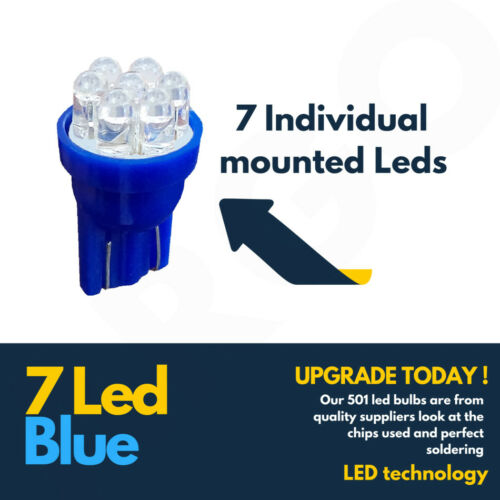 7 LED XENON BLUE 501 194 T10 W5W SIDELIGHT BULBS LEXUS IS200
