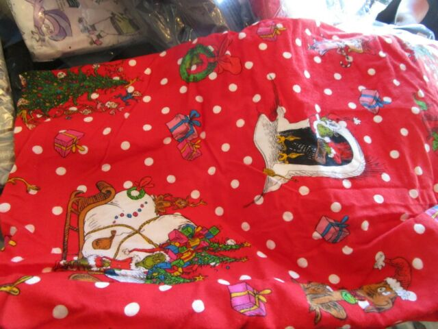Pottery Barn The Grinch Words Of Who-Ville Twin Duvet Sheet Set Sham Christmas
