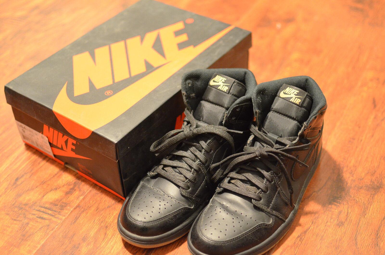 #LotsOfPics, EE. UU. Sz 9 para Hombre 1s Nike Jordan 1s Hombre Alta Negro Goma Bball Zapatos limpiado 14f14f