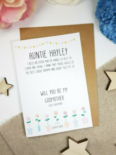 will you be my godmother card godmother proposal card personalised card GP22