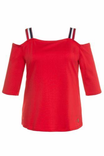 ULLA POPKEN Carmen Shirt Avec Supports Slim Hell-rouge tomate NEUF