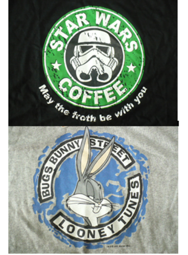 BUGS-BUNNY-SIZE-L-GREY-COLOR-STAR-WARS-COFFEE-SIZE-XL-BLACK-COLOR-T-SHIRT