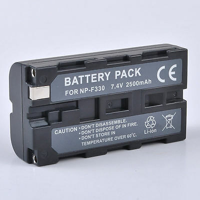 New Battery for Sony NP-F550 NP-F330 NP-F570 NP-F750 NP-F960 F970 F770