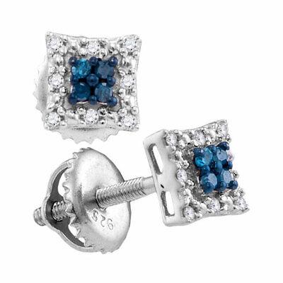 Sterling Silver Diamond Vertical Infinity Screwback Earrings 1//20 ct
