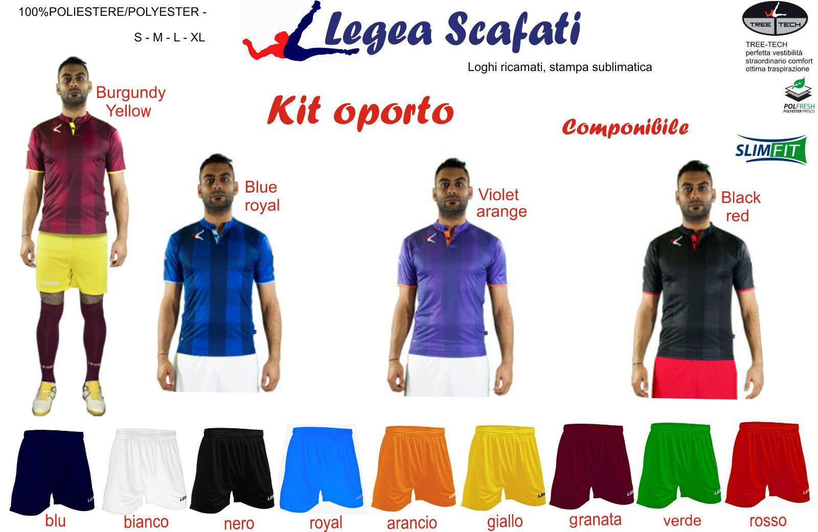 Kit Oporto Legea 8 kit  Calcio Calcetto Sport Muta Divisa Training Pallone