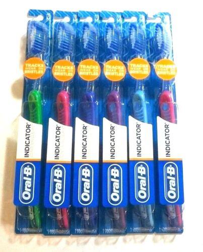 24 Pcs Oral-B Indicator Contour Clean Toothbrush Soft or Medium 6 12