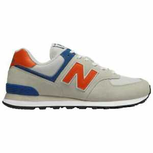 100% authentic f9db2 26d46 Details about New Balance 574 Grey/Orange/Blue Men's ML574SMG