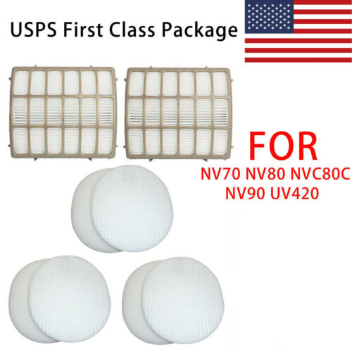 NV80 NV90 NV95 HEPA Foam Filter Felt Filter kit For Shark NV70 NVC80C UV420