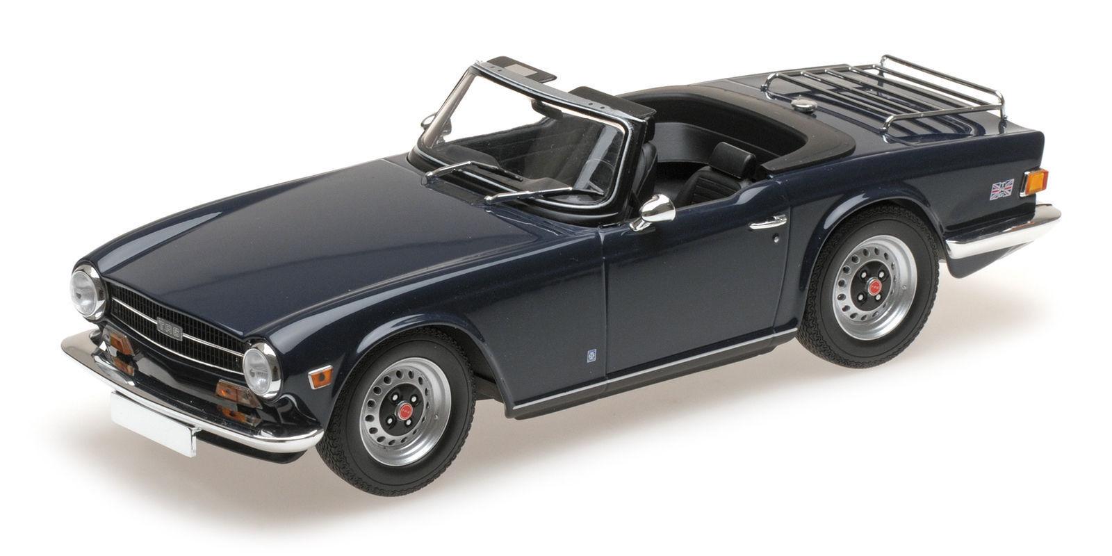 1 18 Minichamps-Triumph tr6 DARK bleu, 1973, Limited Editon 1 V .350