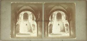 SCALE-Dei-Giganti-Palais-Dei-Doge-Venezia-It-Foto-Stereo-Vintage-Albumina