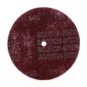 """Scotch-Brite 28077 High Strength Disc, 8"""" x 7/8"""" A VFN, Maroon"""