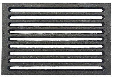 Ambizioso Griglia Fondello Per Stufe Camini Termostufe Legna Pellet 147x275x10 Mm 1,8 Kg Fabbricazione Abile