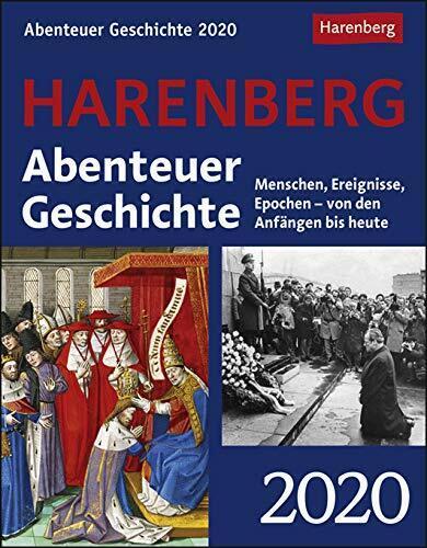 Harenberg Abenteuer Geschichte Tagesabreißkalender Tischkalender 2020 12,5x16,cm
