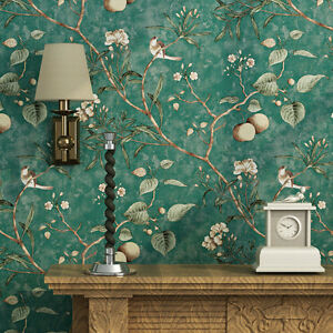 Vintage Floral Bird Wallpaper Roll Home Wall Decor 208x3937 Ebay
