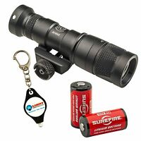 Surefire M300v White Ir Led Mini Scout Light + 2 Extra Surefire Cr123a Batteries