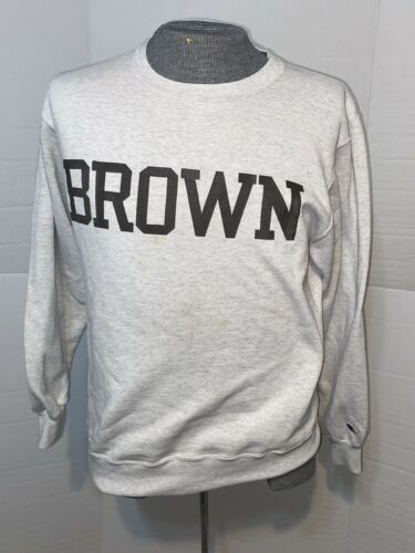 Vintage Champion Brown Univerisity Gray Crewneck S