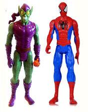 "Marvel Comics SPIDERMAN v GREEN GOBLIN 10"" titan toy figure hero & villain set"