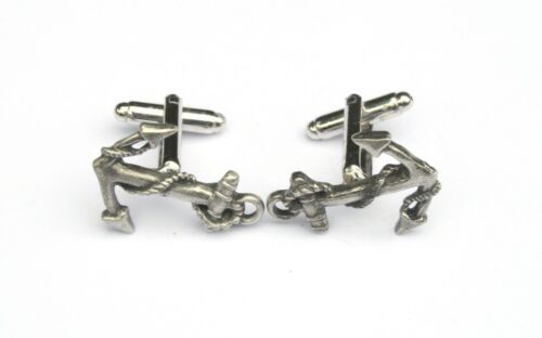 Ships Anchor Cufflinks Pewter Gift Boxed or Pouched QUANTITY DISCOUNT