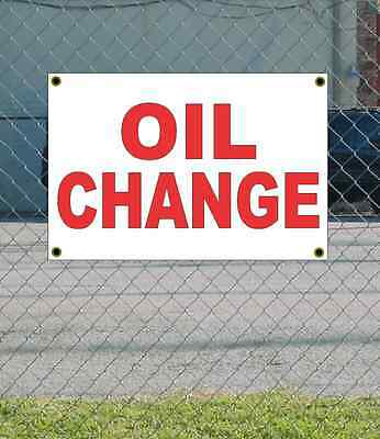 2x3 OIL CHANGE Red /& White Banner Sign NEW Discount Size /& Price FREE SHIP