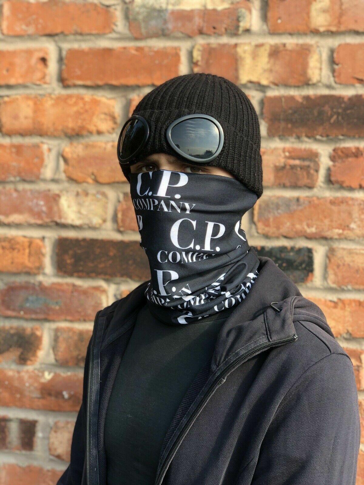 CP Logo Print Multi-use Balaclava Face Mask Tube Snood Bandanna Headband