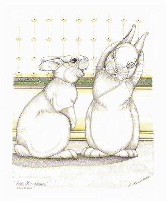 "Sue Rupp Bunny /""Stringy Hare/"" s//n lim ed print"