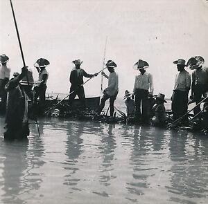 TAHITI c. 1950 - Pêche aux Cailloux dans le Lagon Polynésie Française DIV  4997 | eBay