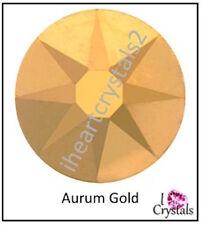 AURUM GOLD Swarovski 40ss 8.5mm Solid Crystal Flatback Rhinestones 2088 6 pcs