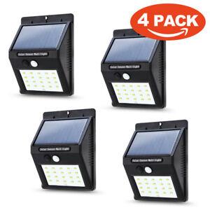 Waterproof 20 LED Solar Power PIR Motion Sensor Wall Light Outdoor Garden Lamp J