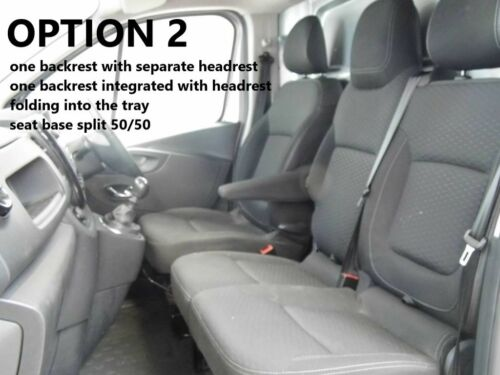 VAUXHALL VIVARO 2014 PRESENT 2+1 ECO LEATHER SEAT COVERS MADE TO MEASURE FOR VAN