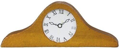 Mantle Clock Wooden Clock Time Piece Dolls House Miniature