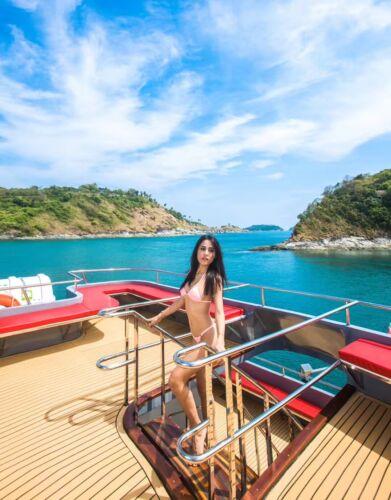 Yacht Teak Marineboden EVA Streifen Bodenbelag rutschfest für Luxus Hausboot