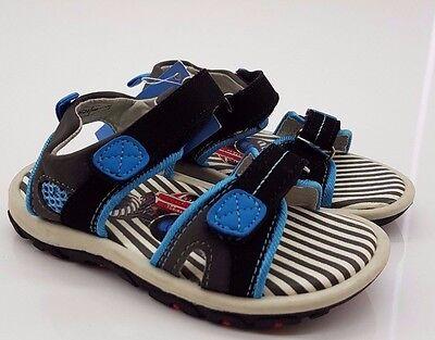 True-Style Kinder Sandale Jungen Gr. 24 Blau/Schwarz NEU