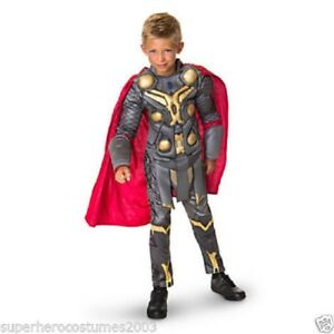 f54ee76499 Image is loading The-Avengers-Thor-Muscle-Deluxe-Costume-Disney-Marvel-