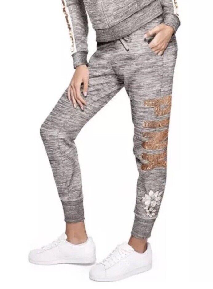 Victoria S Geheimnis PINK Bling Bestickt Skinny Jogger Hose~ Größe M