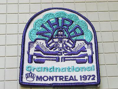 Intellective 1972 Nhra Große Nationals Rennen Aufnäher Kanada Montreal