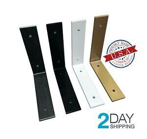 2 Pack - Angle Shelf Brackets, Farmhouse Metal Shelf Bracket, Industrial Modern